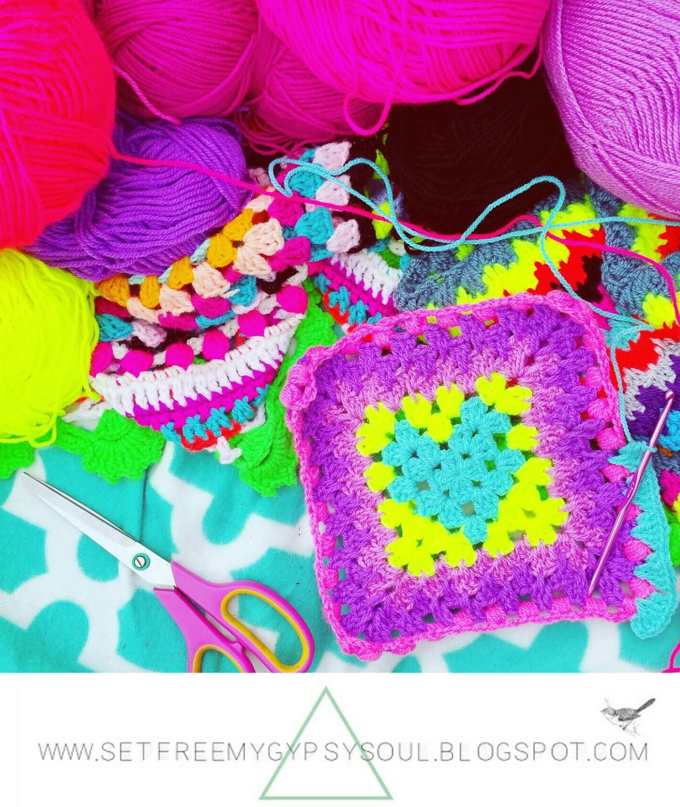 Set Free My Gypsy Soul | a Crochet Craft blog : Neon Granny Heart ...