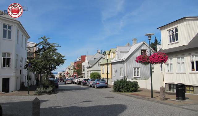 Calle Skólavörðustígur de Reykjavík