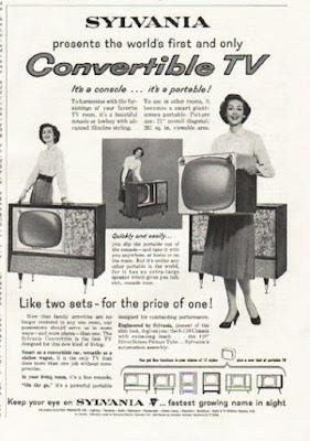 Sylvania Conveftible TV