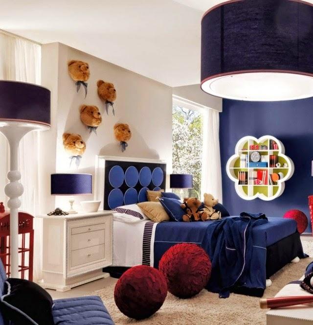 Dormitorios decorados para niño color azul   dormitorios colores y ...