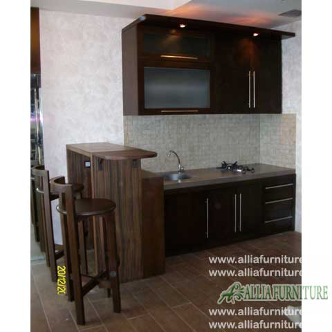kitchen set mini bar minimalis borneo