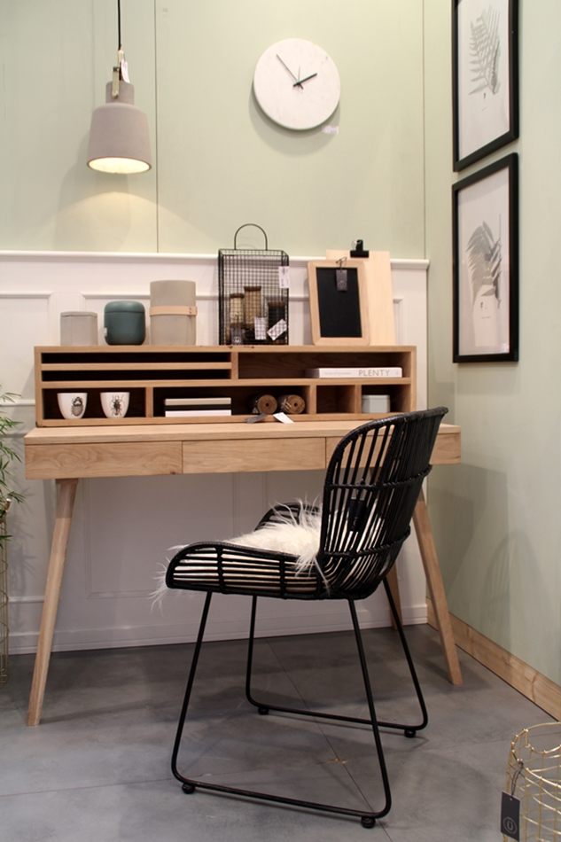 Messeeindrücke von der Ambiente 2016 bei Hübsch Interior, Schreibtisch Stuhl