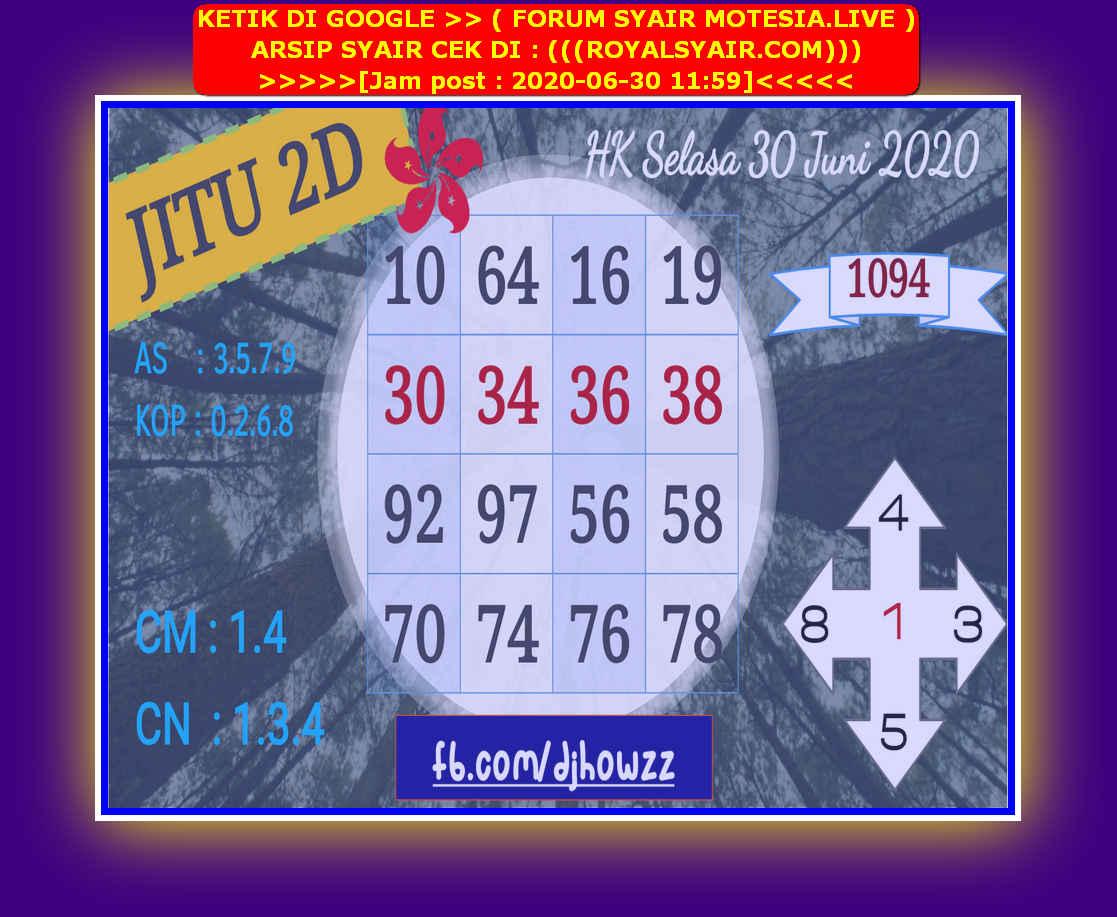 Kode syair Hongkong Selasa 30 Juni 2020 106