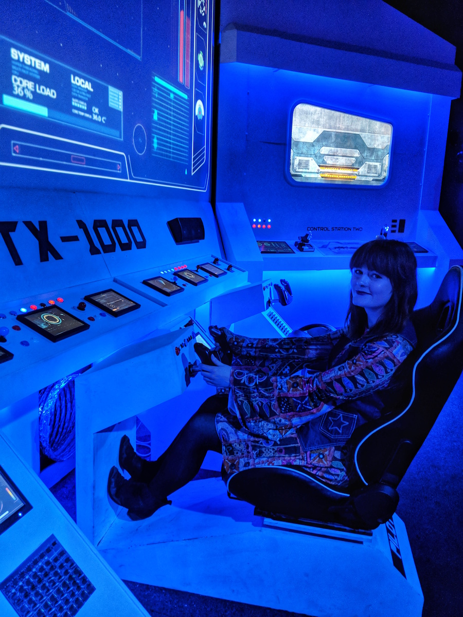Blogger, Leigh Travers, reviews the Backyard Cinema's Mission To Mars theme