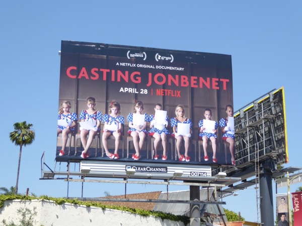Casting JonBenet Netflix documentary billboard