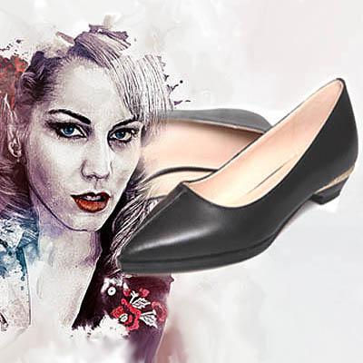 Sepatu flat shoes hitam