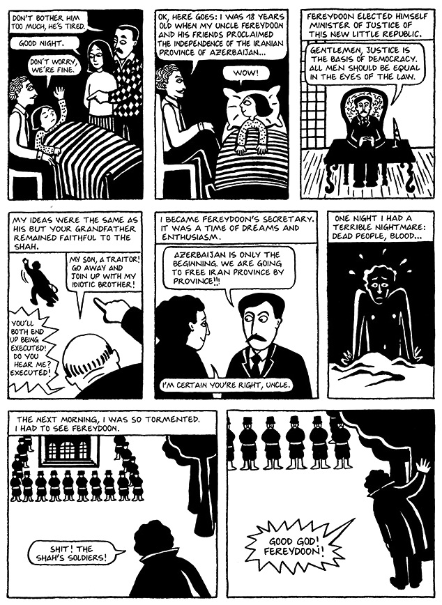 Read Chapter 8 - Moscow, page 53, from Marjane Satrapi's Persepolis 1 - The Story of a Childhood