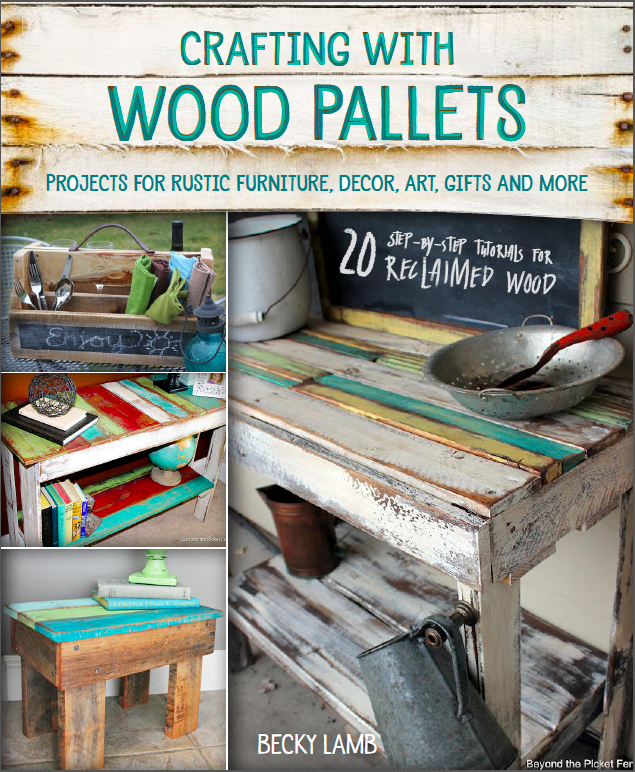 pallets, reclaimed wood, book, beyond the picket fence, http://bec4-beyondthepicketfence.blogspot.com/2015/03/drink-up-healthy-yummy-concoction.html