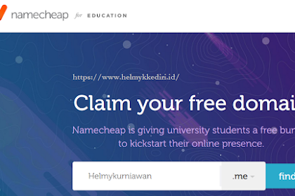 Cara mendapatkan domain me gratis dinamecheap