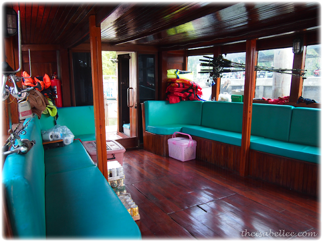 Interior of the fishing boat