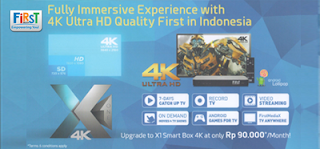 STB Decoder First Media Ultra HD X1 4K