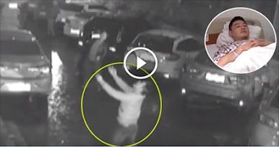 رجل ينقذ فتاة سقطت من أربعين متر بطريقة عجيبة ! مشهد حقيقي.. سبحان الله