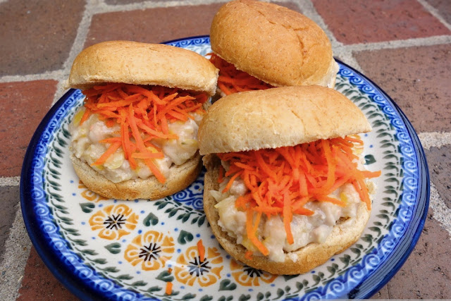 plate of Pickled Pork and White Bean Sliders
