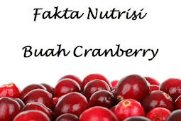 Fakta Nutrisi Buah Cranberry