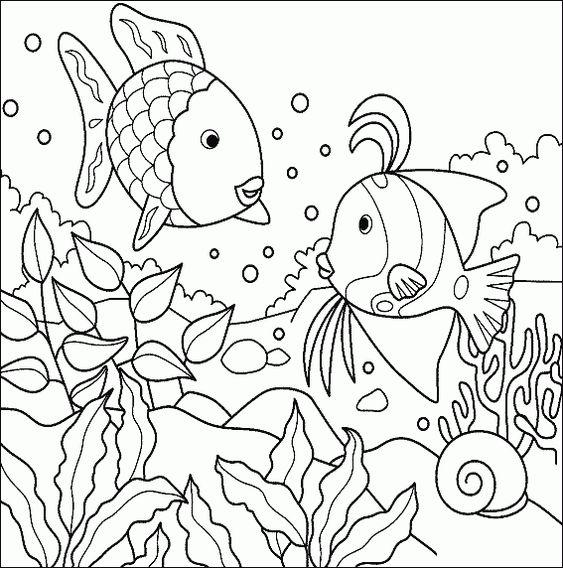 Tranh tô màu con cá 7