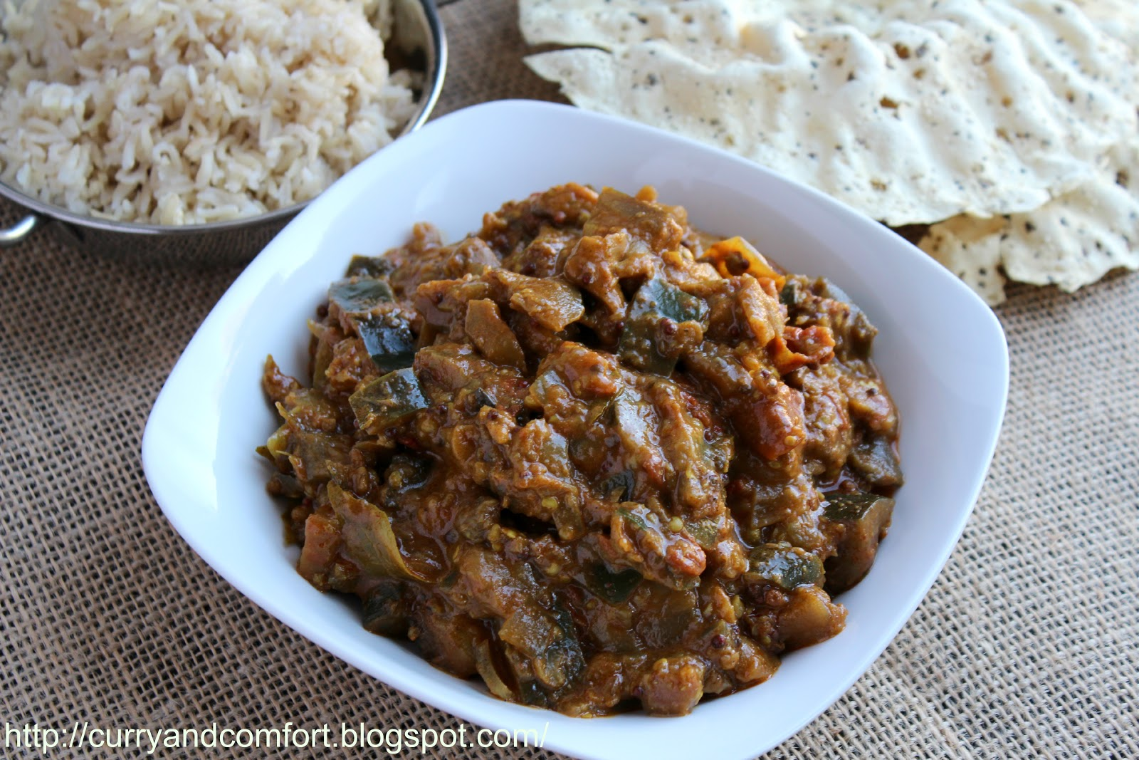 Kitchen Simmer: Sauteed Eggplant Curry