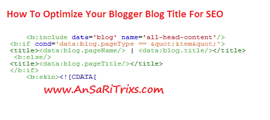 How To Optimize Blogger Title For SEO