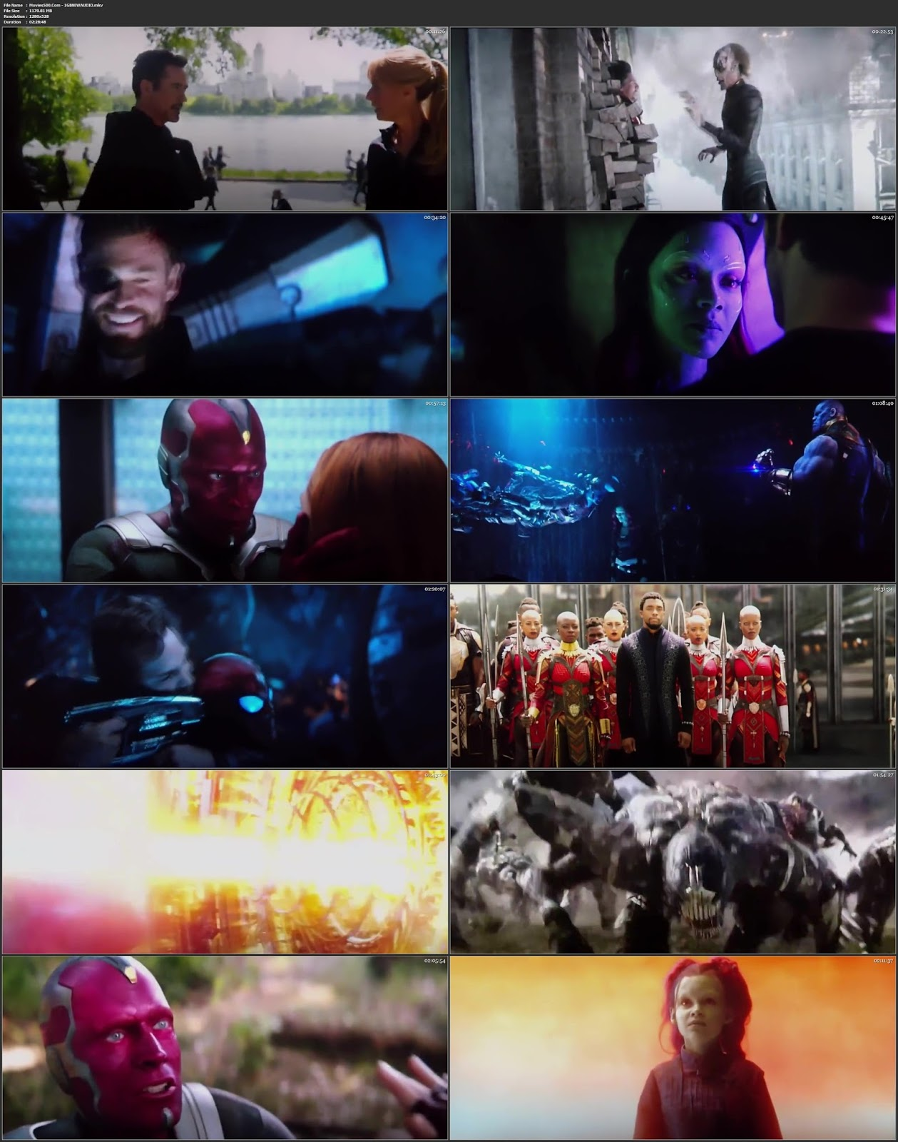 Avengers Infinity War 2018 Dual Audio Hindi Clean Audio HDTSRip 720p at movies500.site