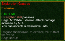naruto castle defense 6.3 Sage Kabuto Exploration Glasses detail