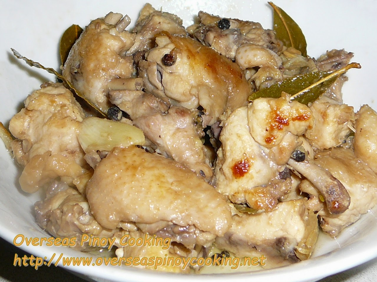 White Chicken Adobo, Adobong Puti