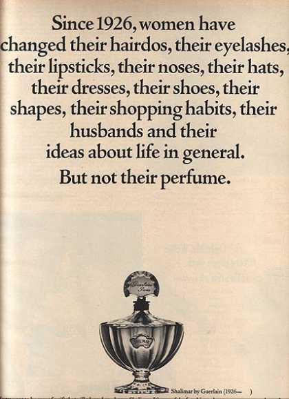 Guerlain's Shalimar Perfume...1964