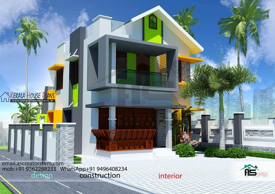 double floor kerala home designs photos