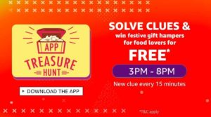 (All Answers) Amazon App Treasure Hunt 3rd Oct-Free Products Tricks