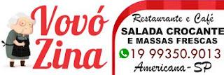 O seu paladar vai adorar o sabor caseiro do Restaurante e Café Vovó Zina