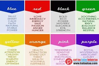 kalautau.com - Cari Tau Kepribadian dari Warna Favoritmu