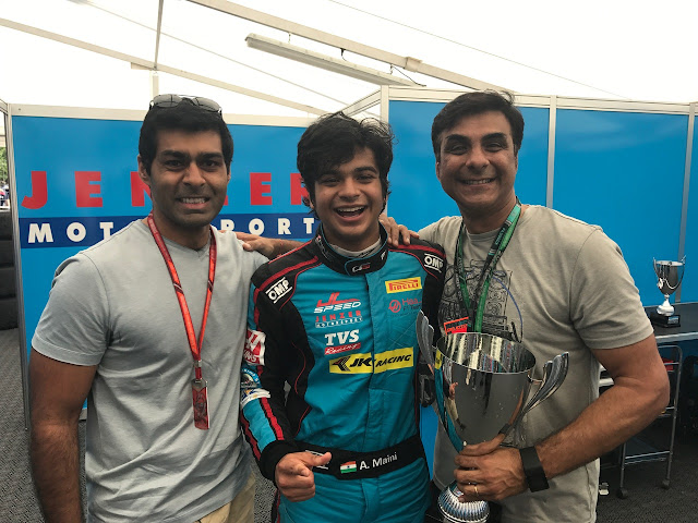 Arjun Maini is the first Indian to finish on top at a GP 3 Race, with his maiden first at the GP3 in Barcelona