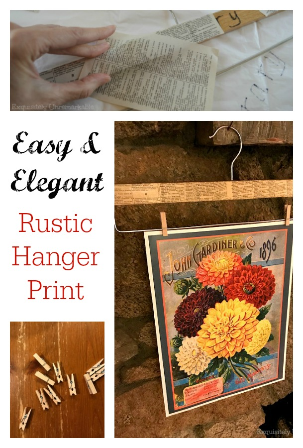 Rustic Seed Packet Art Hanger