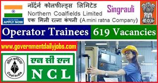 NCL Recruitment 2018 | 619 Operator Trainees Vacancy