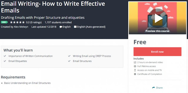[100% Free] Email Writing- How to Write Effective Emails