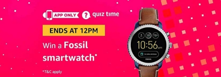 All Answers Of Amazon Fossil watch Quiz Time 29th November