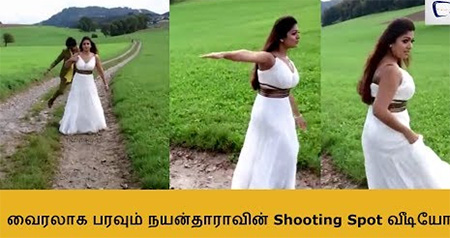 Nayanthara Rare Shooting Spot Video