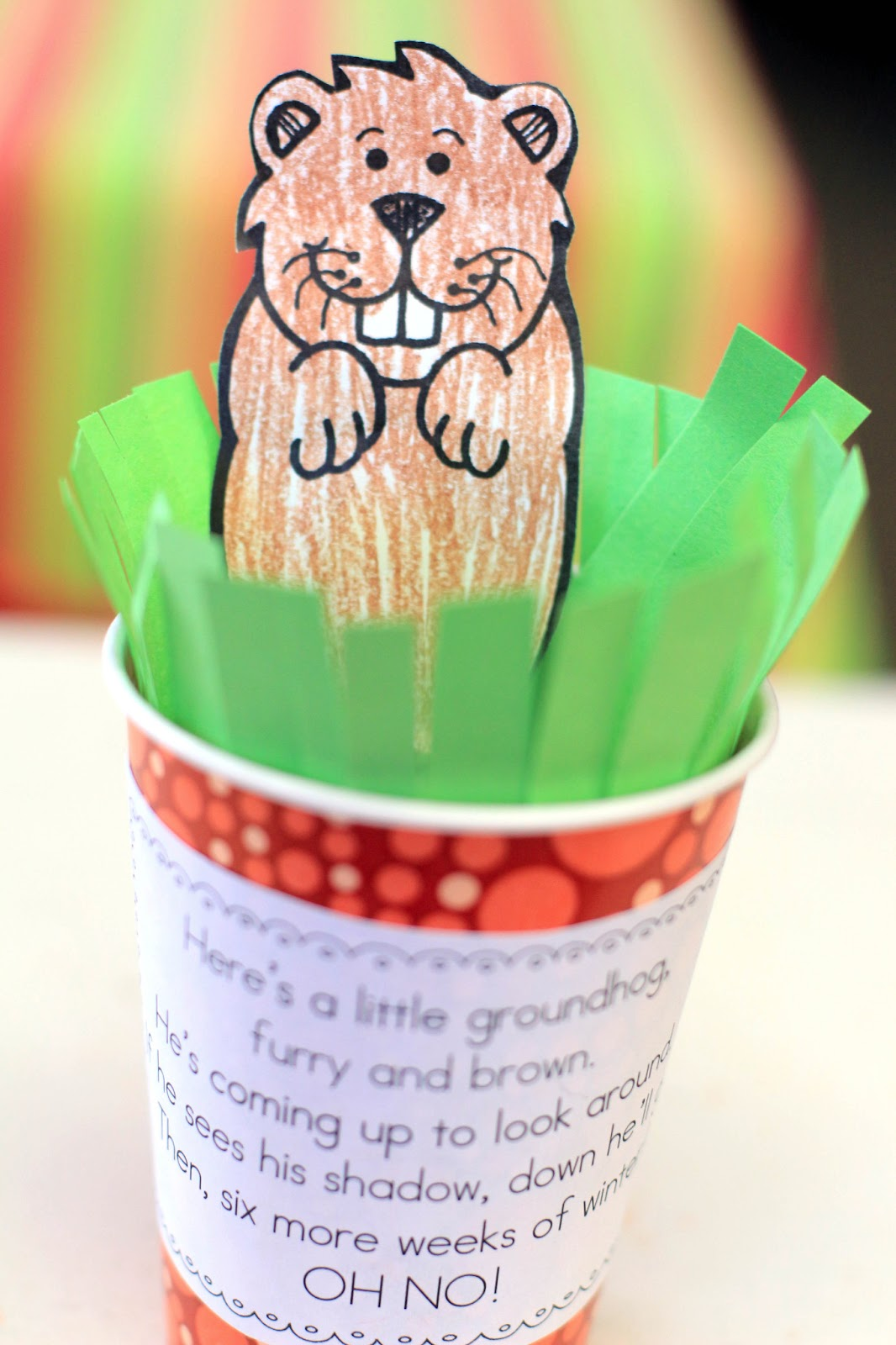 Groundhog Day Paper Cup Craft