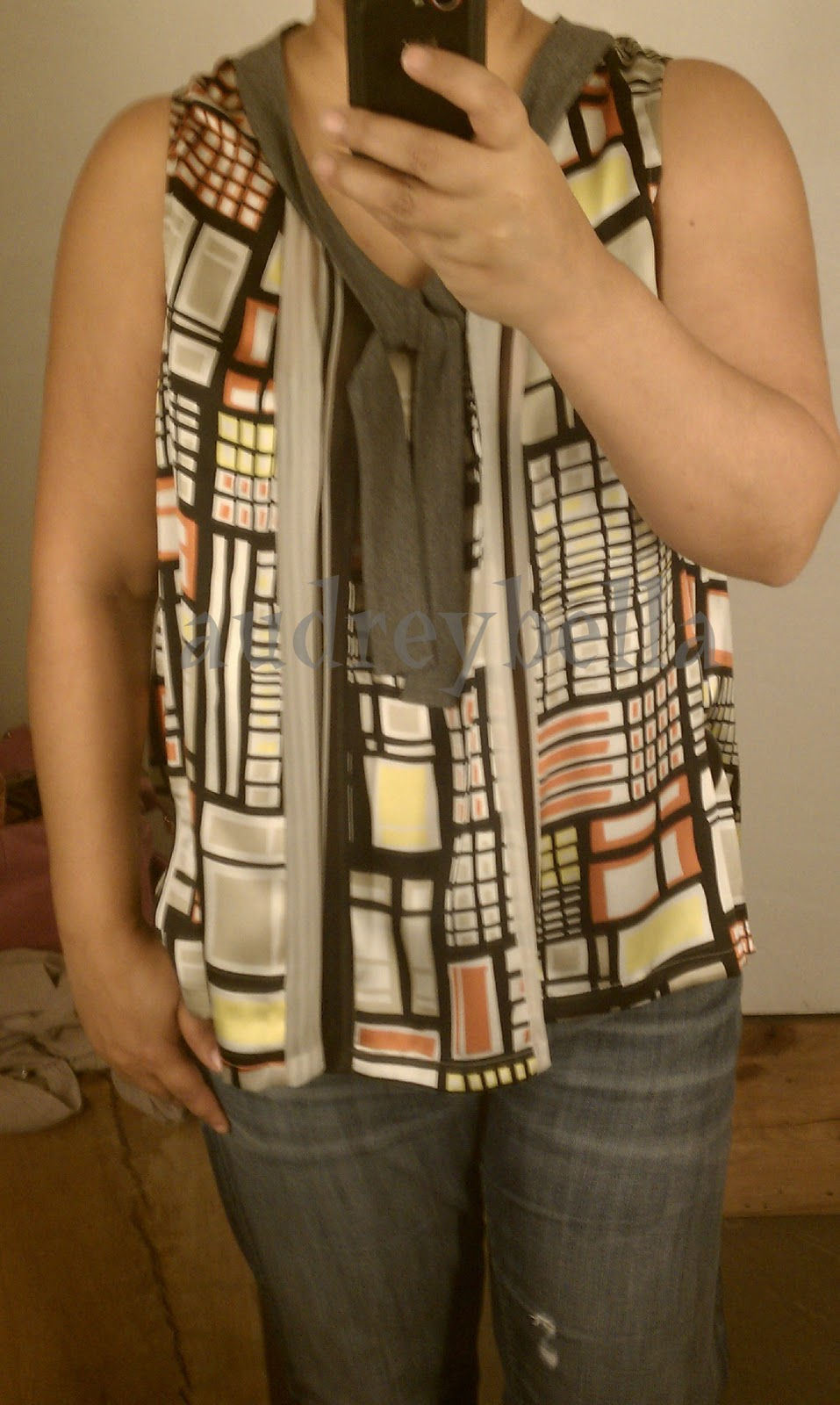 f37b759d7cd9 Bargello Tank, S, Orange Motif – Very comfortable and flowy. There are some  gray panels that are very sheer so either some strategic tucking/belting or  a ...