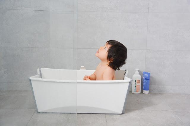 routine bain bébé