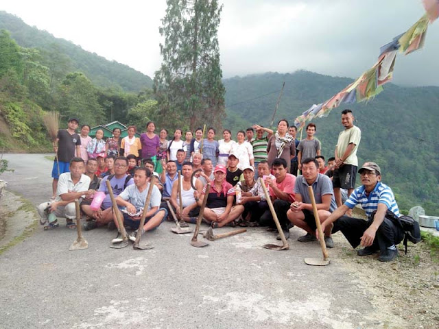 Cleanliness drive at Rungbee Bhainsetar
