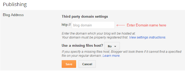 Blog publishing screen