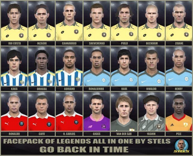Facepack of Legends All In One PES 2018