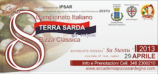 Immagine del logo della manifestazione dell'8° Campionato italiano della Pizza & Terra Sarda le Origini anno 2013