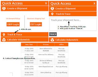 Semak tracking POSLaju Malaysia secara online di laman web POSLaju.