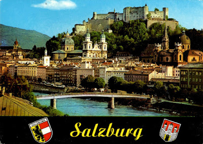 Salzburg - The Old Town with the fortress