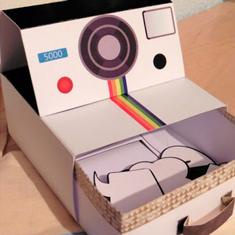 caja polaroid imprimible