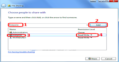 Cara mudah share Folder, file, dokumen di windows 7