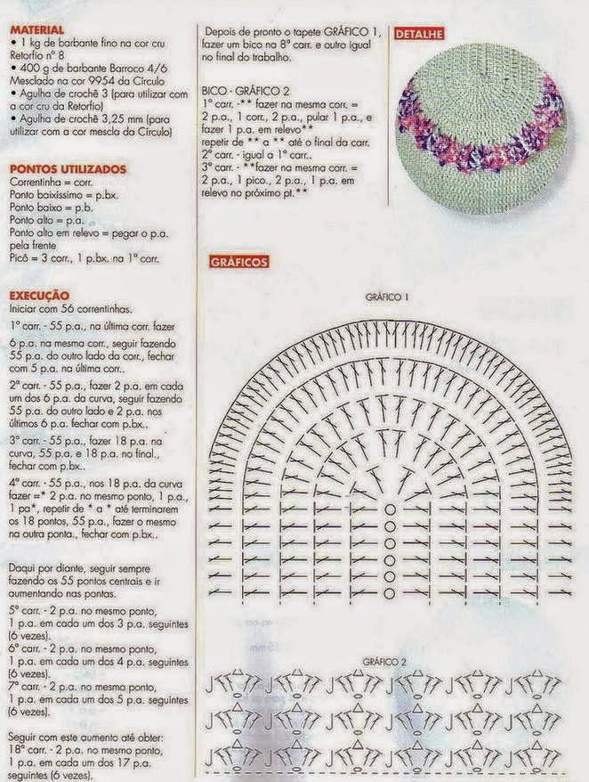 Alfombra fácil y linda al crochet | Crochet y Dos agujas - Patrones ...