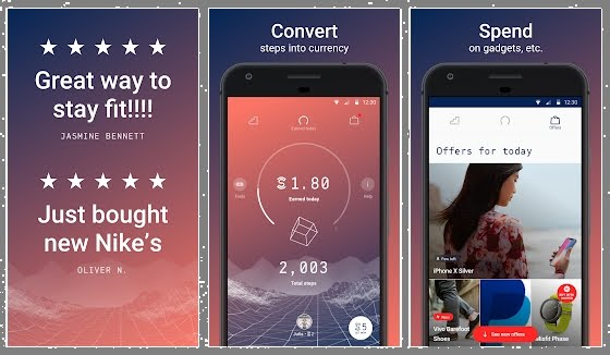 4. تطبيق Sweatcoin: