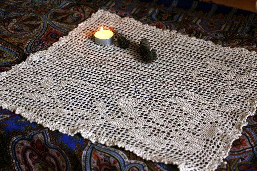 блог о вязании и рукоделии салфетка крючком филейное вязание