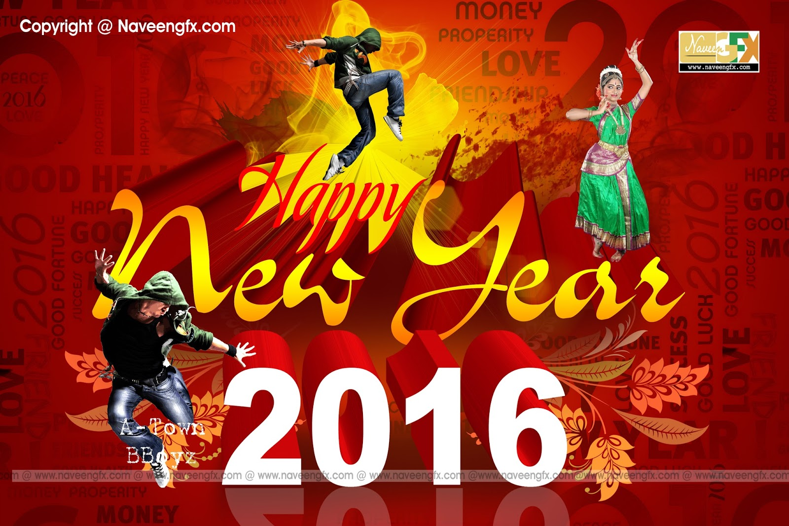 Happy New Year 2016 Psd Background Images Free Online Naveengfx